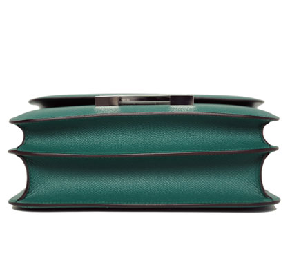 Hermes Constance Malachite 24cm, Epsom with Palladium Hardware