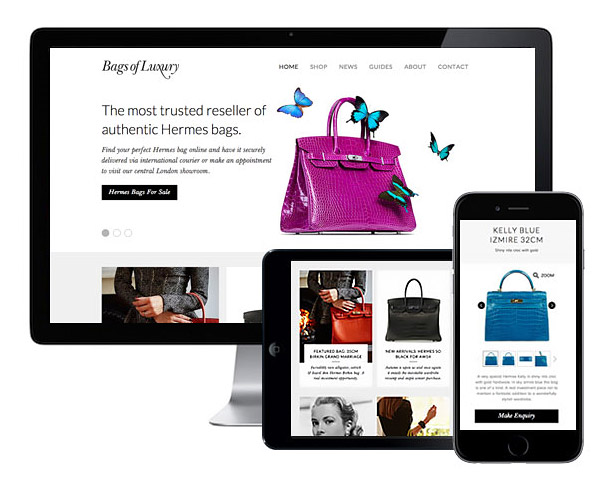 New Bags of Luxury Website Online