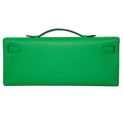 Hermes Kelly Cut Bamboo, Swift with Palladium