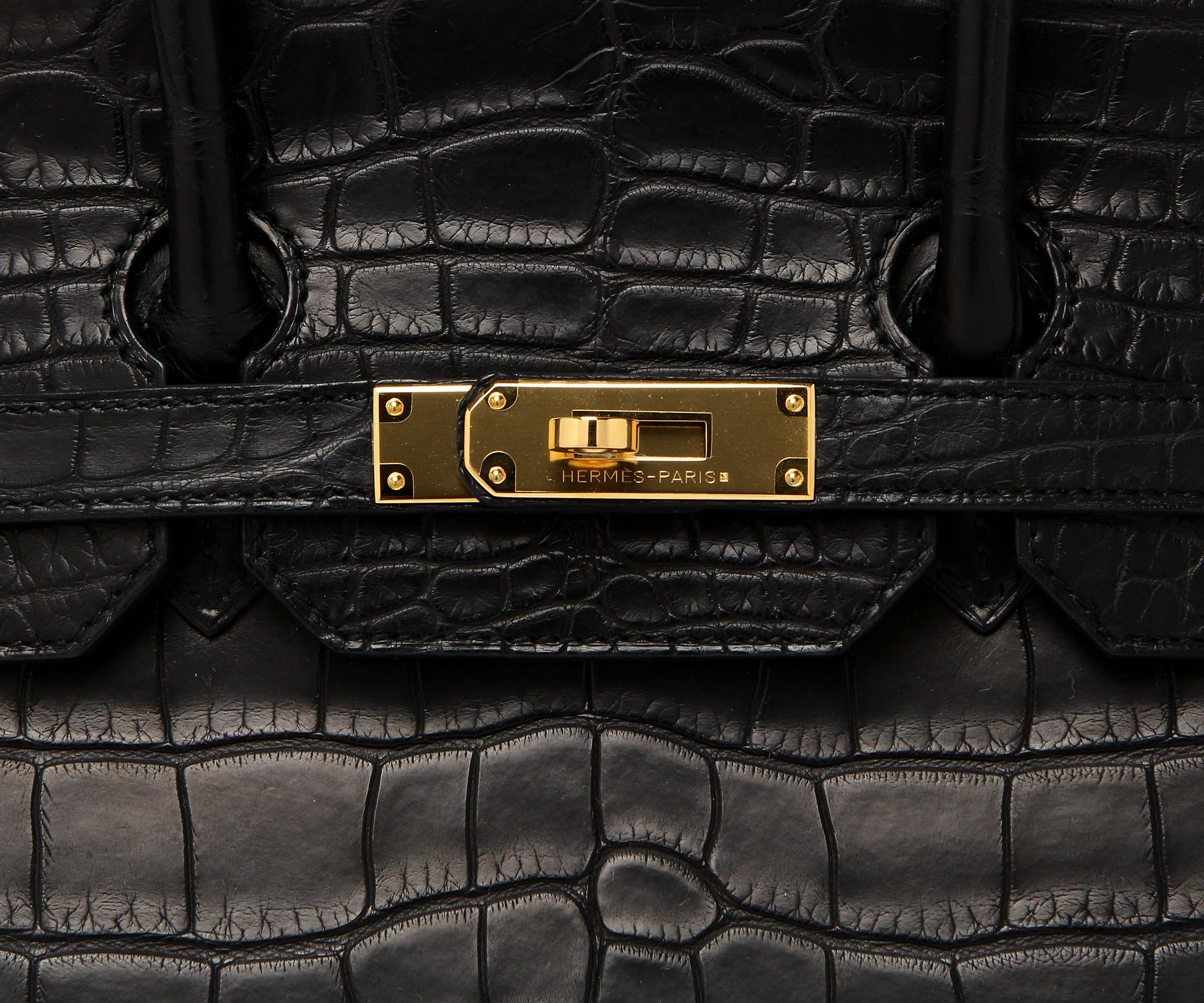 Hermes Birkin Black Matt Alligator 35cm