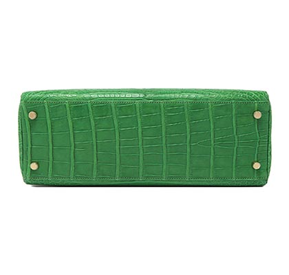 Hermes Kelly Cactus Matt Alligator with Gold