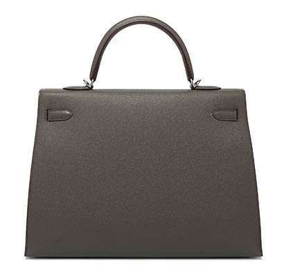 Hermes Kelly Etain Epsom with Palladium