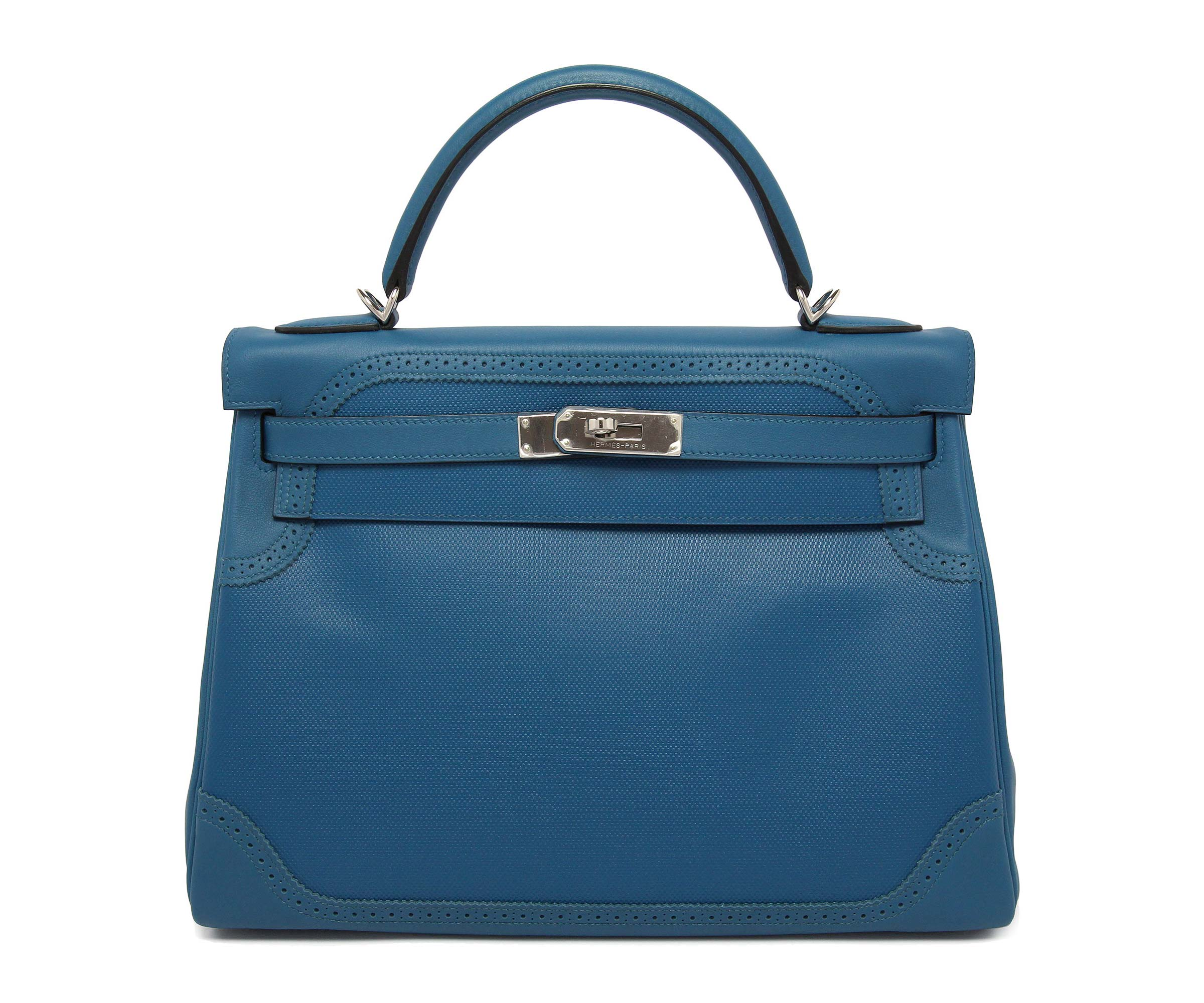 Hermes Kelly Blue Galice 32cm