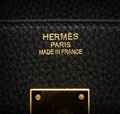 Hermes Birkin Black Togo with Gold