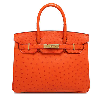 Hermes Birkin Orange Ostrich with Gold