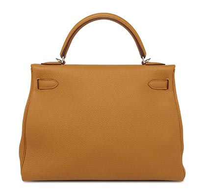 Hermes Kelly Caramel Togo with Palladium
