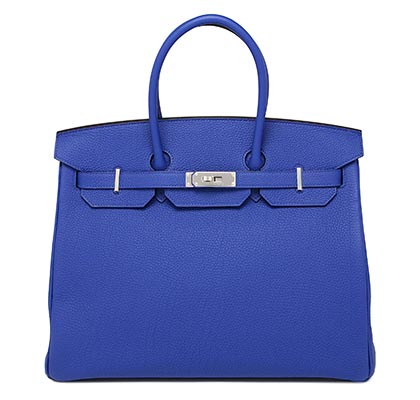 Hermes Birkin Blue Electric Togo with Palladium