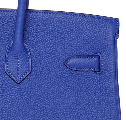 2e0ee1f1072f Hermes Birkin Blue Electric Togo with Palladium