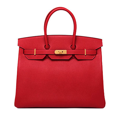 Hermes 35 cm Birkin Rouge Cassaque Epsom with Gold