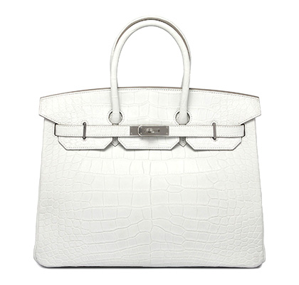 Hermes Birkin 35 cm Nuage Matt Alligator with Palladium