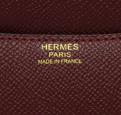 Hermes Constance Rouge Hermes Epsom with Gold