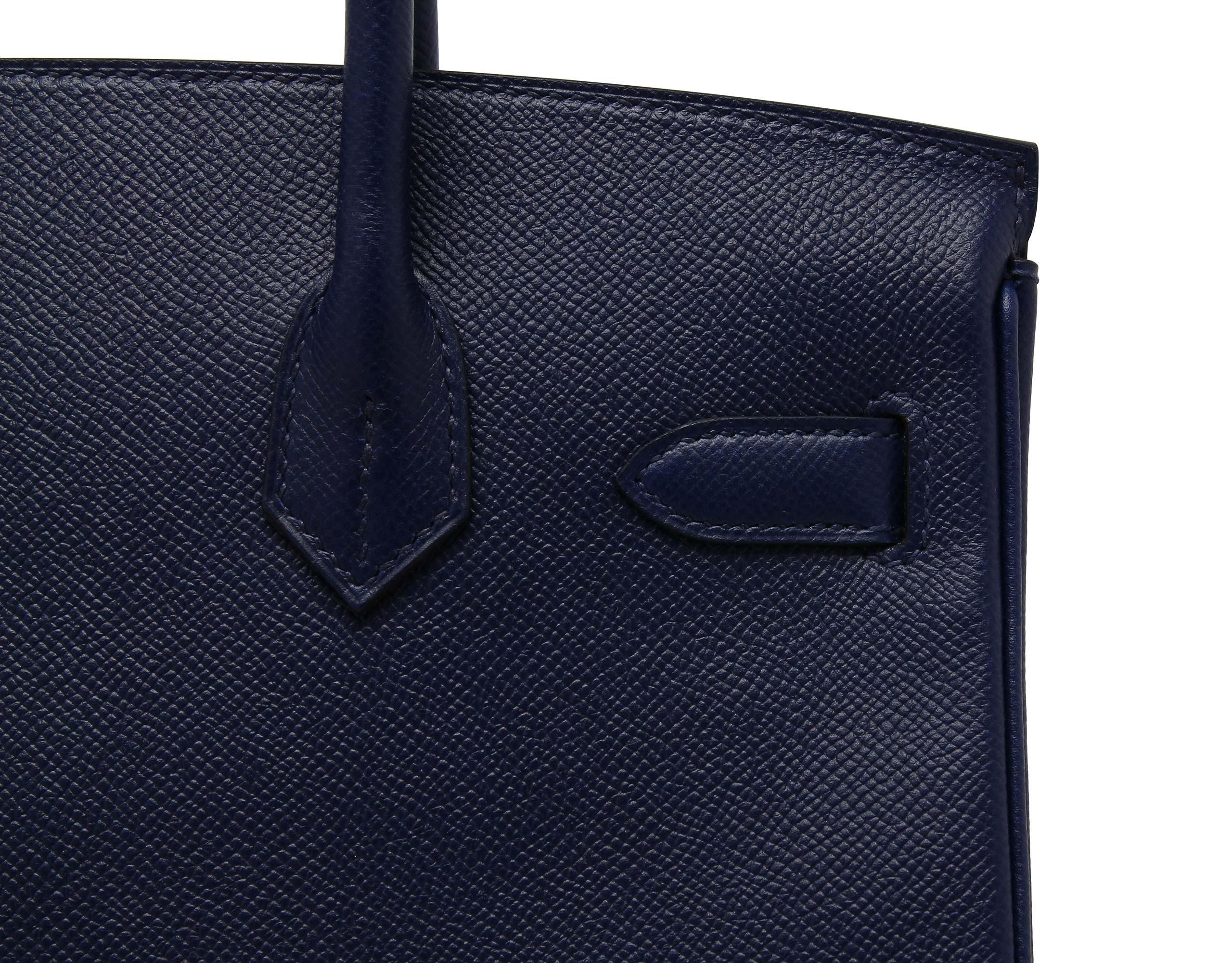 Hermes Birkin Blue Sapphire Epsom with Palladium