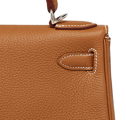 Hermes Kelly Gold Togo with Palladium