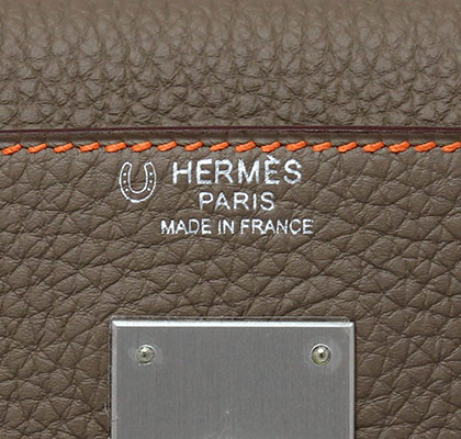 b91d018a3c9 Hermes Kelly Orange Etain Bi-colour with Brushed Palladium