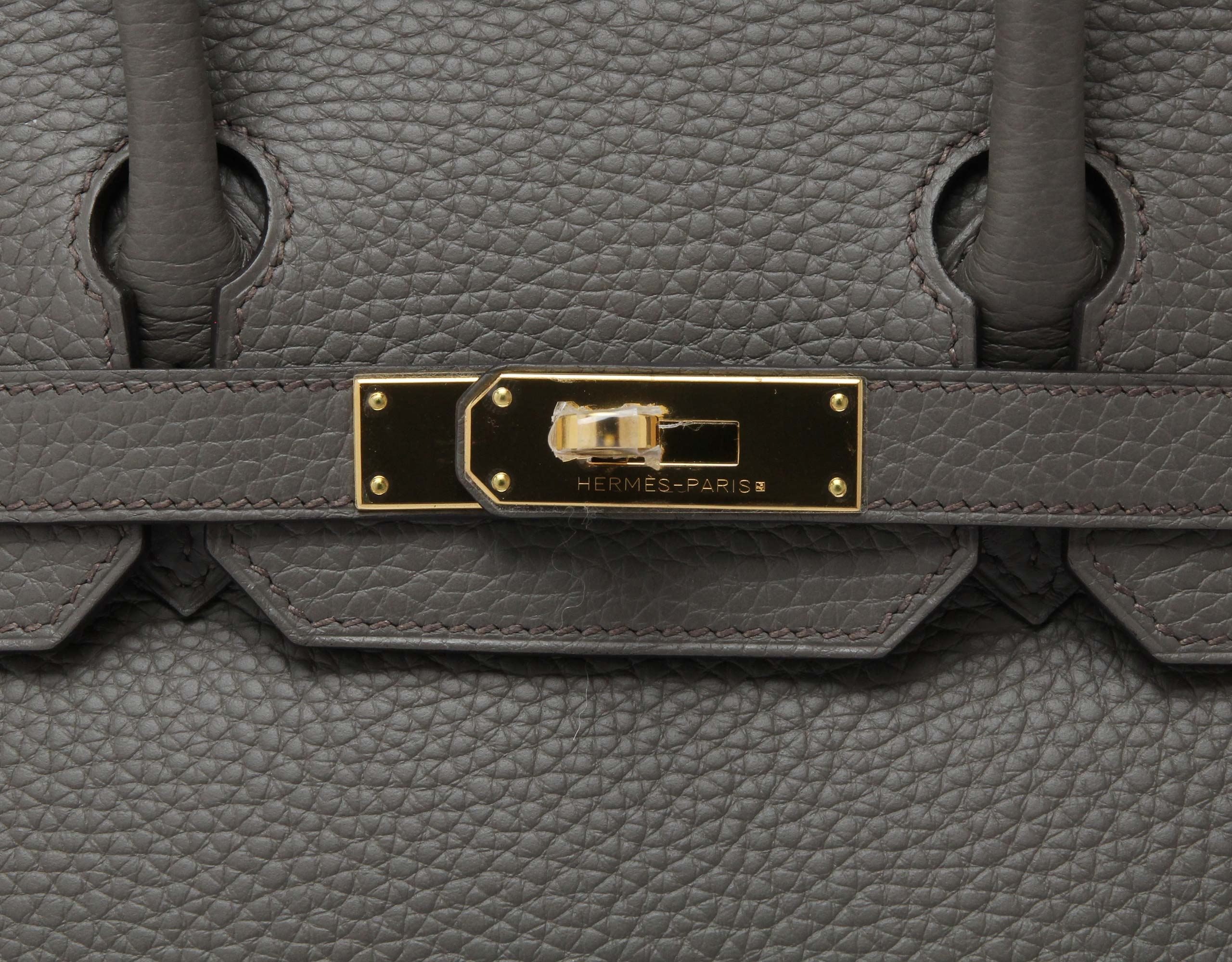 Hermes Birkin Etain Clemence with Gold