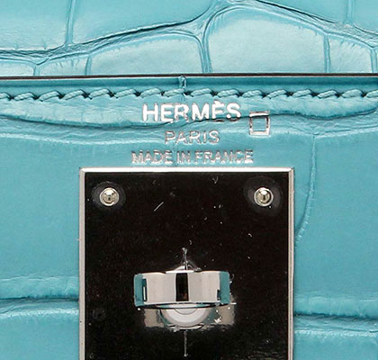 Hermes Kelly Blue Saint Matt Alligator with Palladium