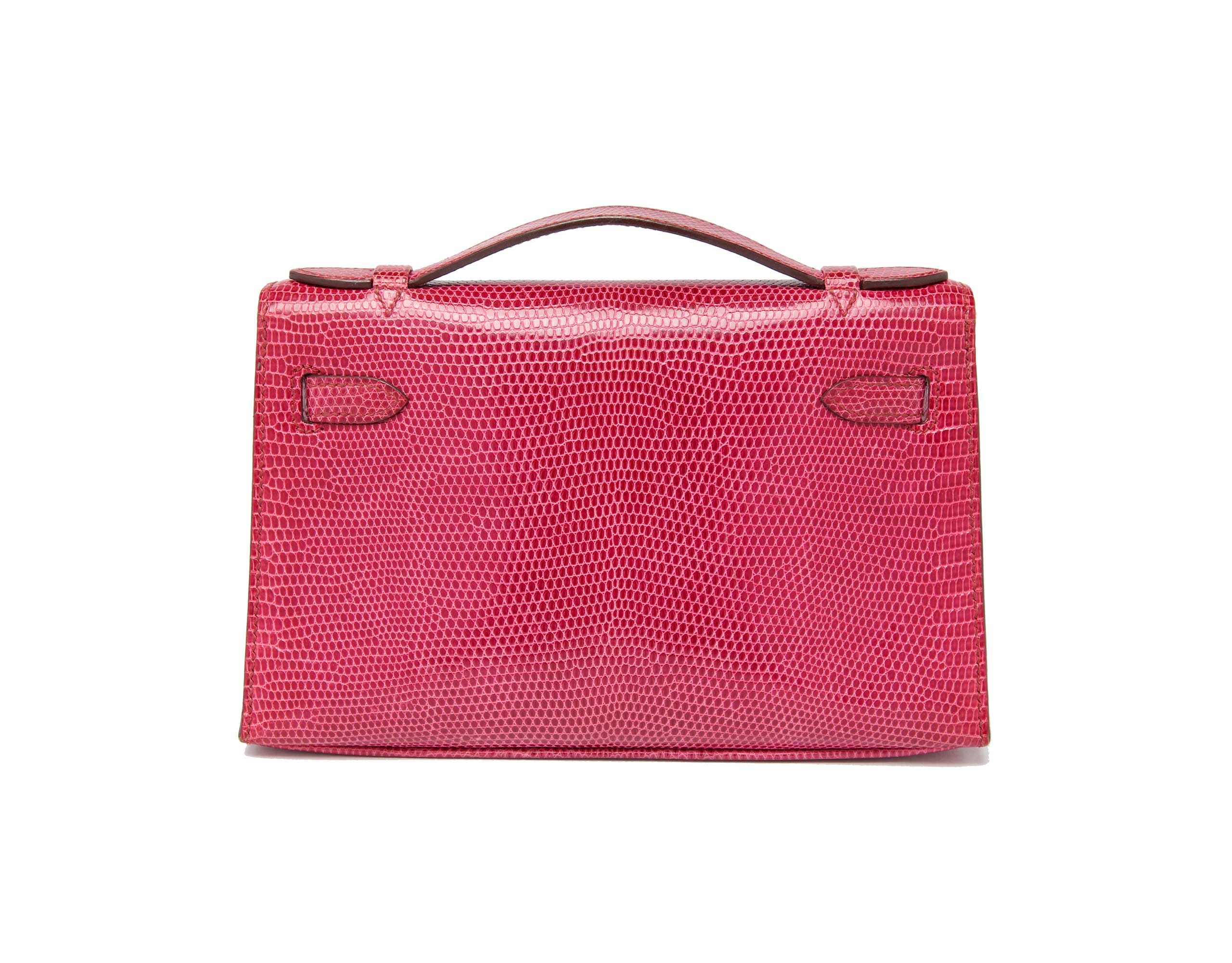Hermes Kelly Cut Mini Fuschia with Palladium