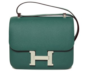 Hermes Constance Malachite Green
