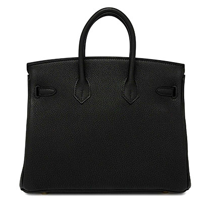 Hermes Birkin Black Togo 25cm with Gold Hardware