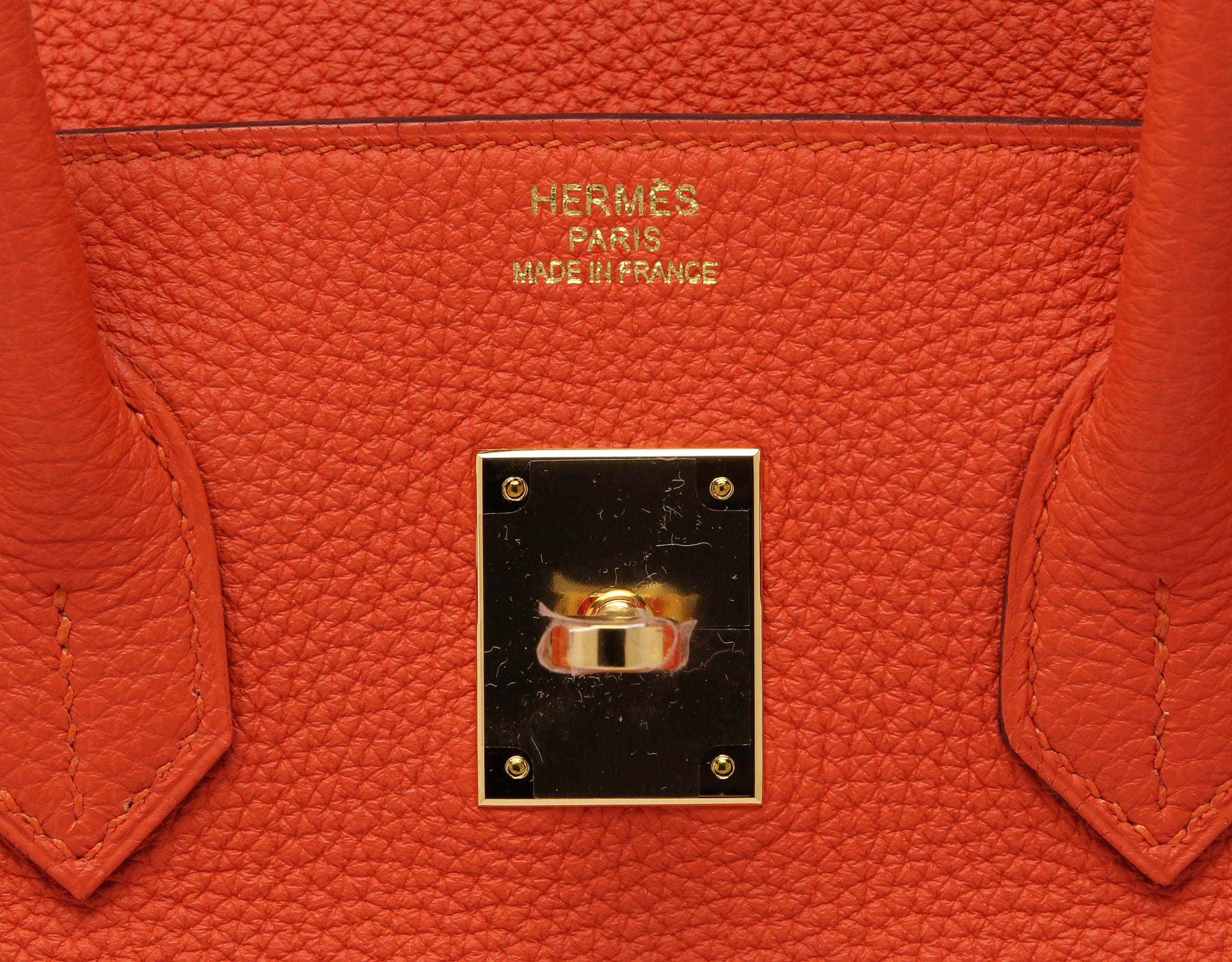 Hermes Birkin Feu Togo 35cm with Gold Hardware