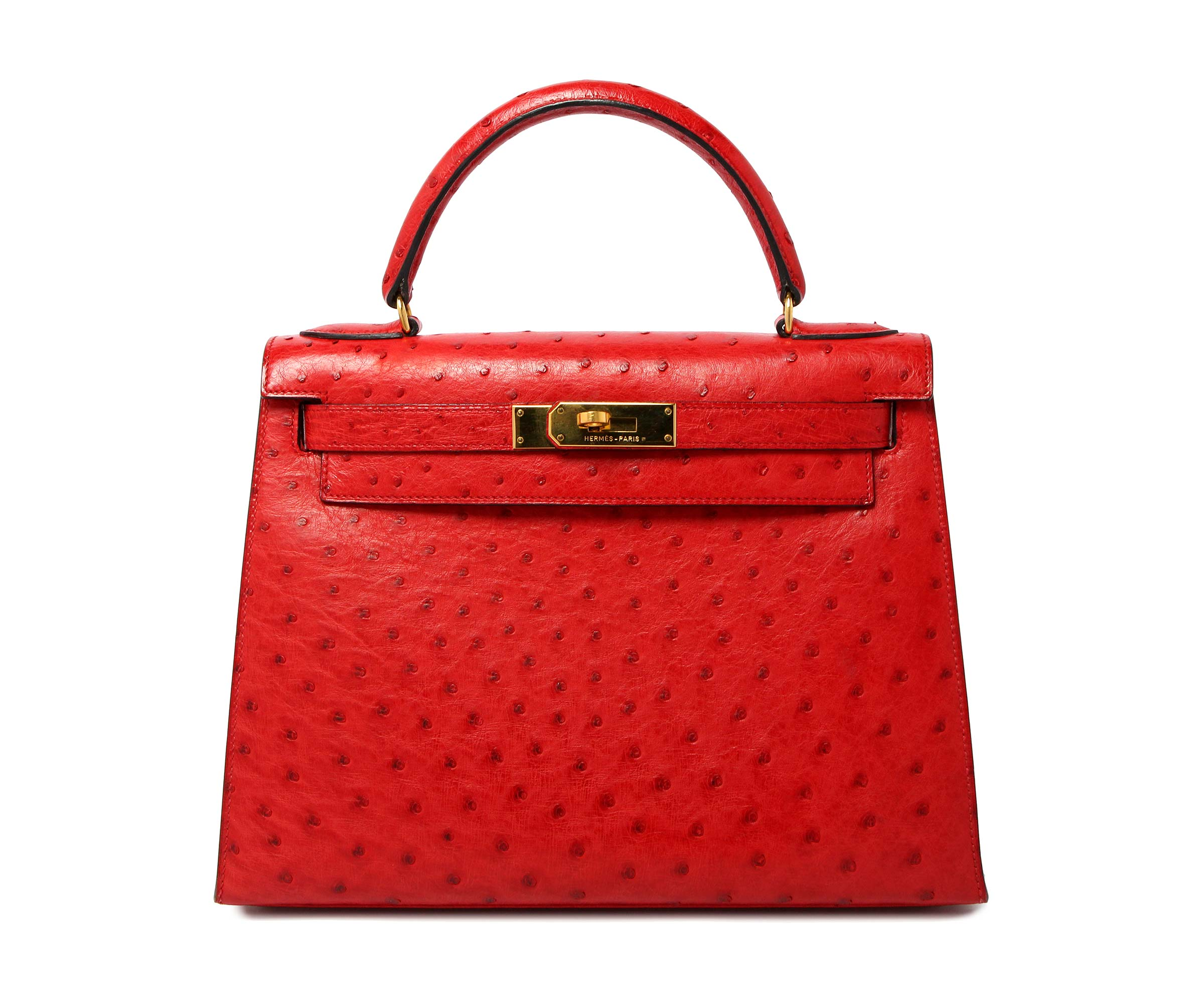 Hermes Kelly Rouge with Gold