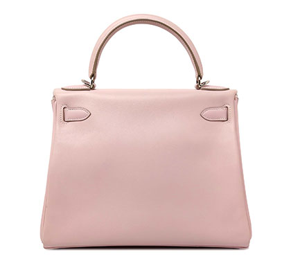 Hermes Kelly Rose Dragee with Palladium