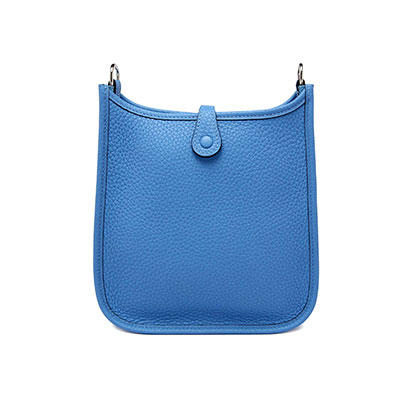 Hermes Mini Evelyn Blue Paradise Clemence with Palladium