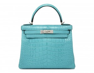 Hermes Kelly Blue Saint