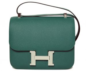 Green Hermes Constance Bag