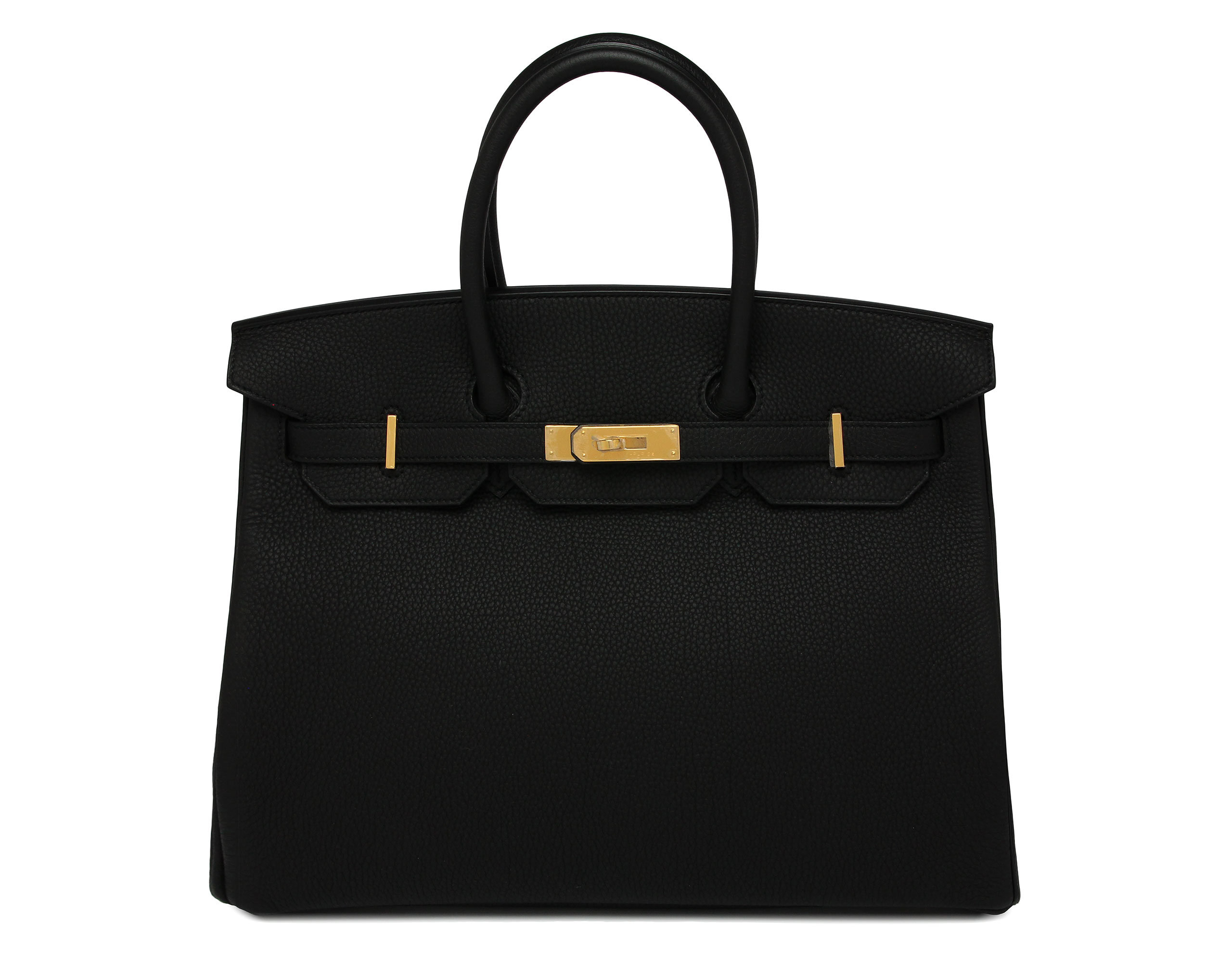 60c0ad3359 Hermes Birkin Black 35cm Togo with Gold