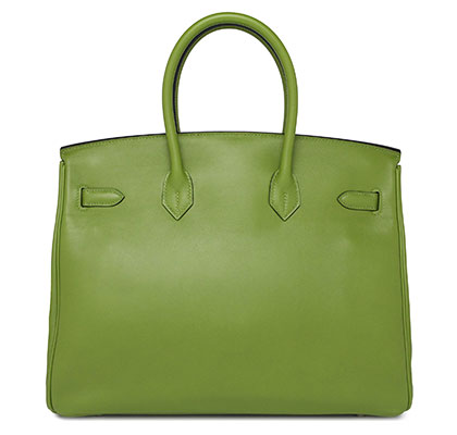 Hermes Birkin Vert Pelouse Swift with Palladium