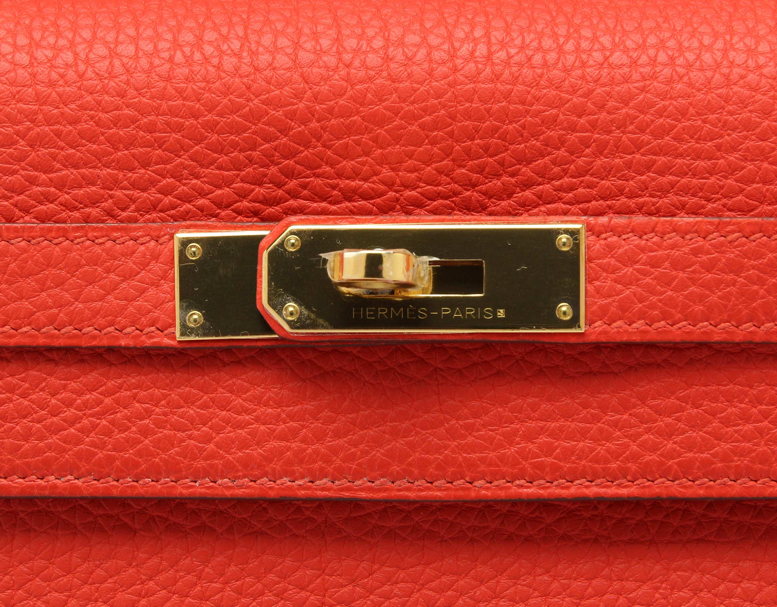 Hermes Kelly Capucine Togo with Gold