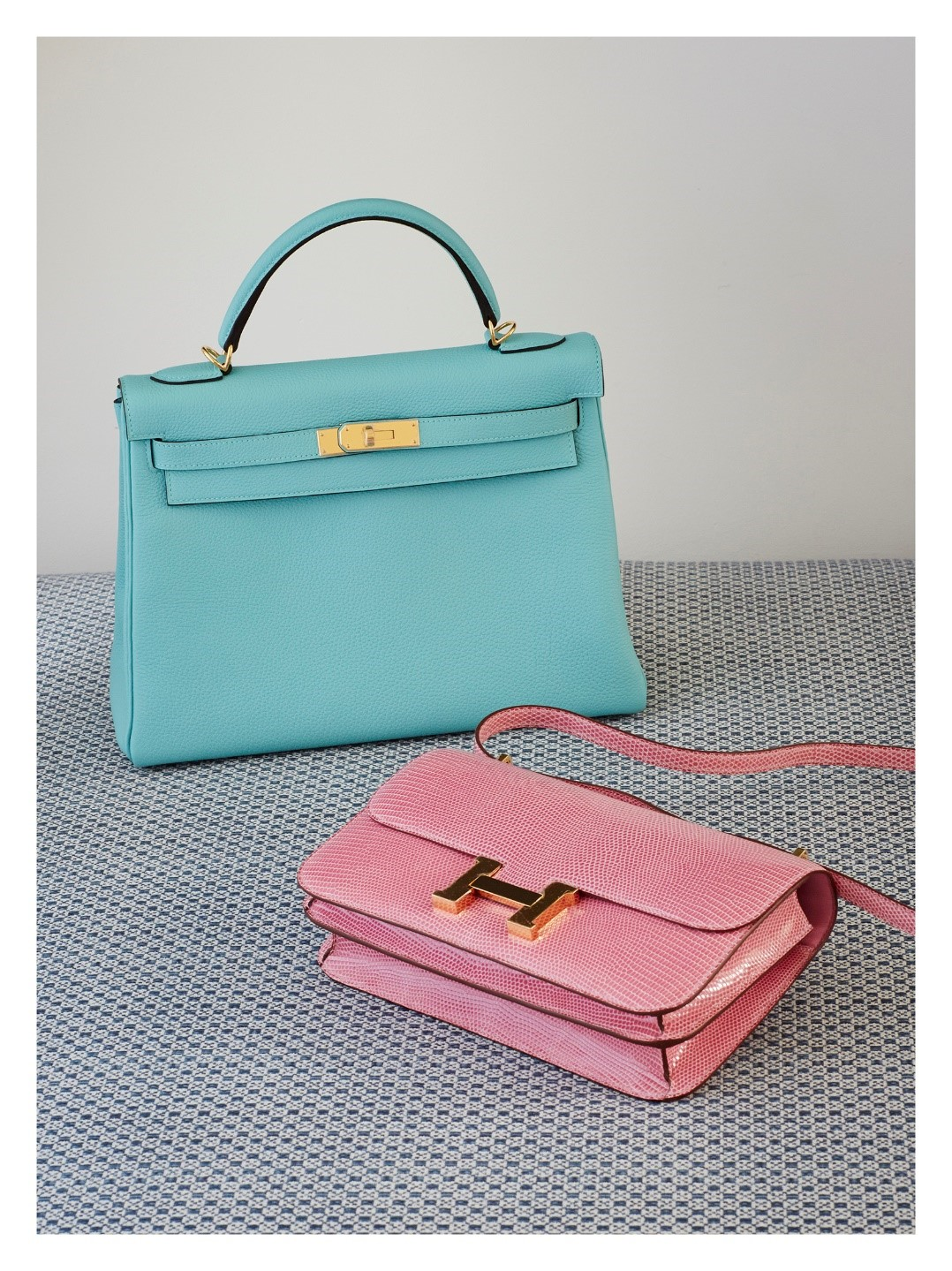 Hermes Kelly Handbag and Hermes Constance