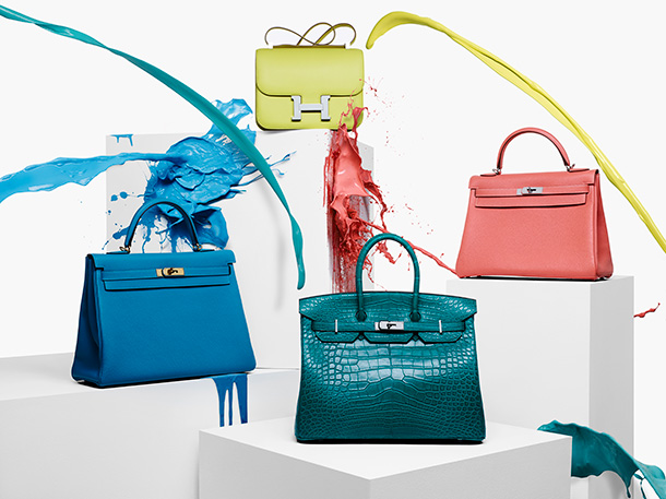 Hermes Bags Paint Montage