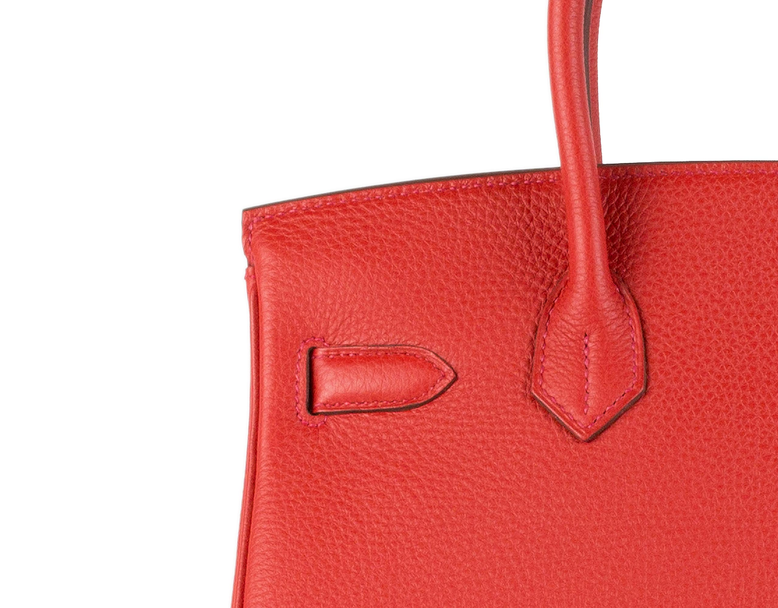 fake hermes purse - hermes 30 cm geranium togo leather red birkin- 30 cm ghw, h purse