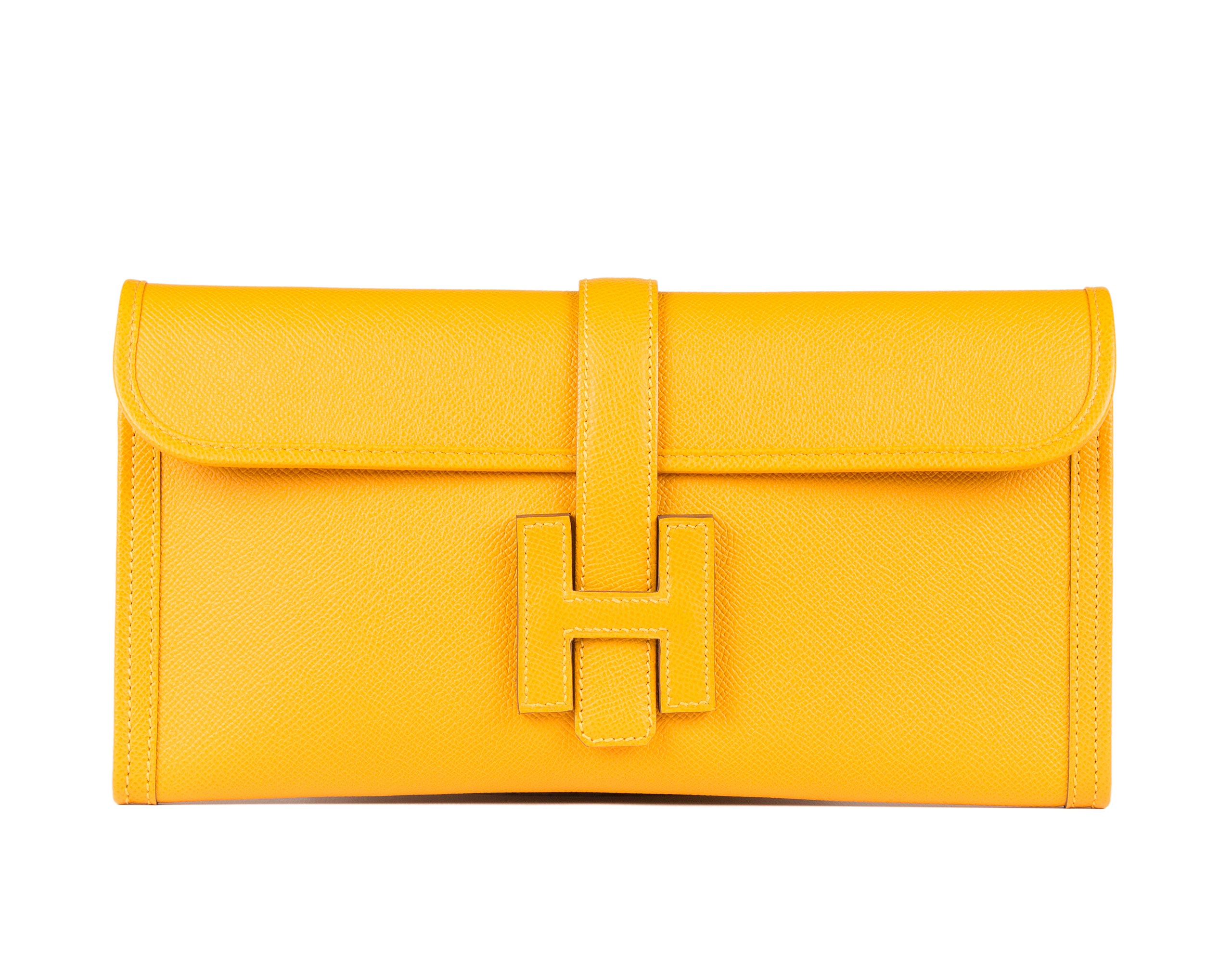 Hermes Jige Bag, Jaune, 29cm, Epsom - Bags of Luxury