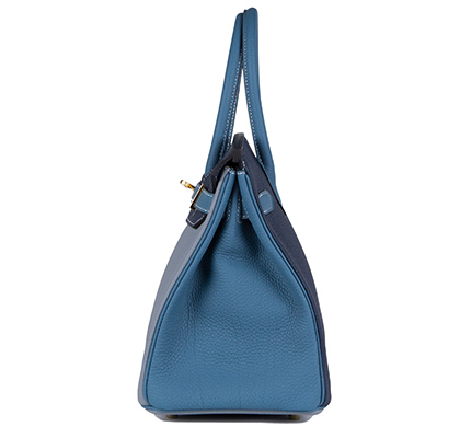 hermes kelly price - Hermes Birkin Bag, Blue Lin & Blue Jean, 30cm, Togo With Gold