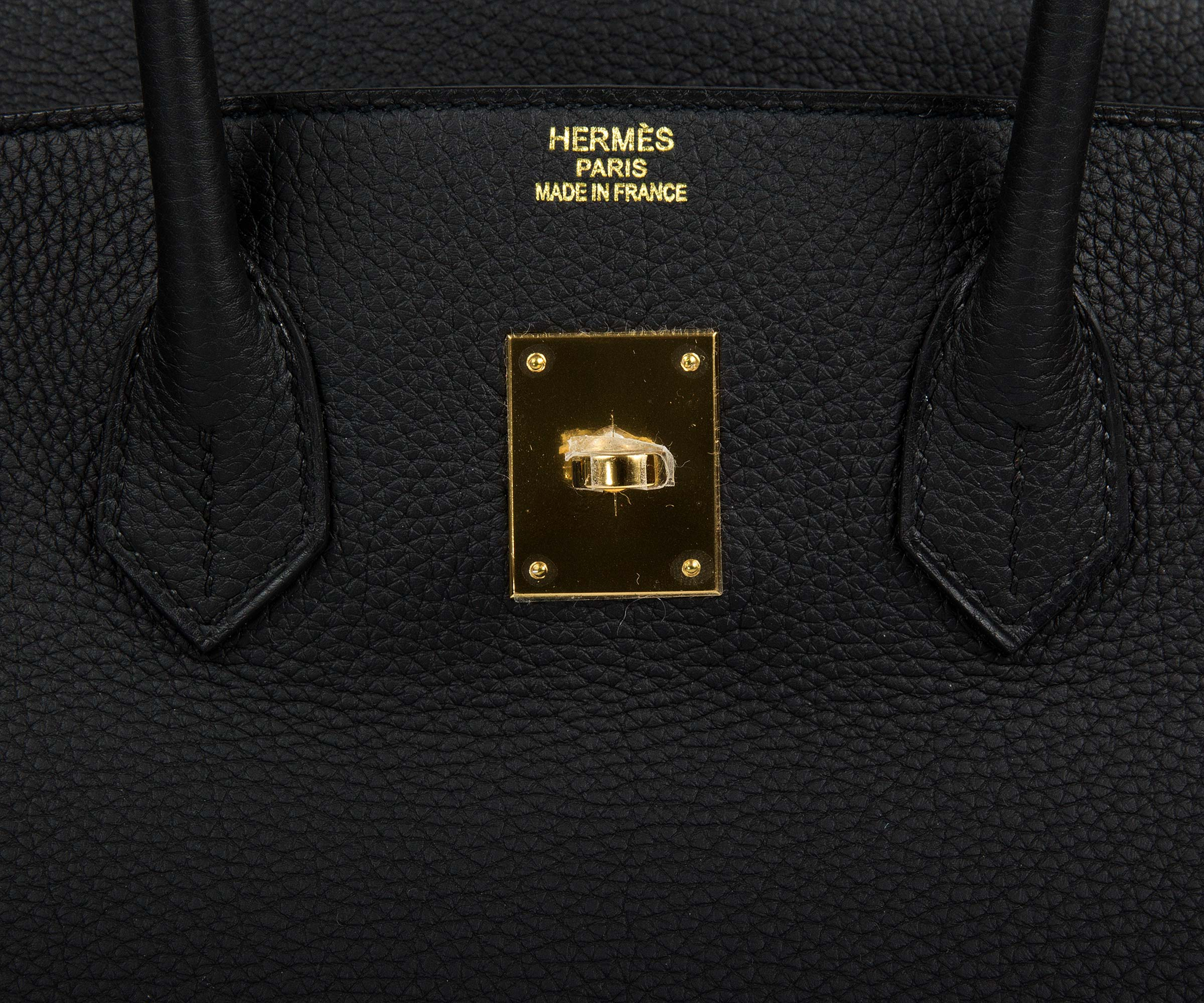 Hermes Birkin Black 35cm, Togo with Gold Hardware B171
