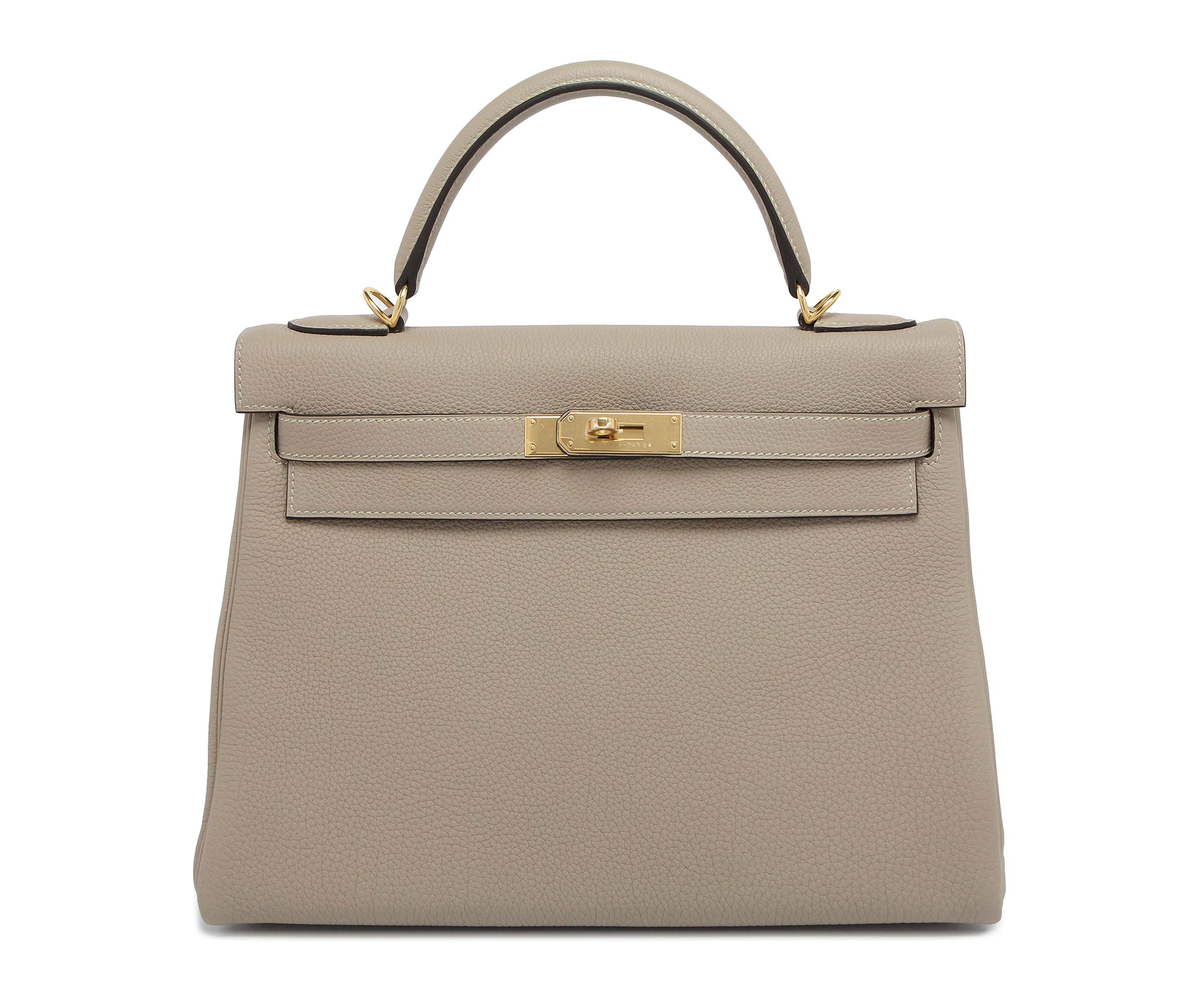 Hermes Kelly Gris Togo with Gold