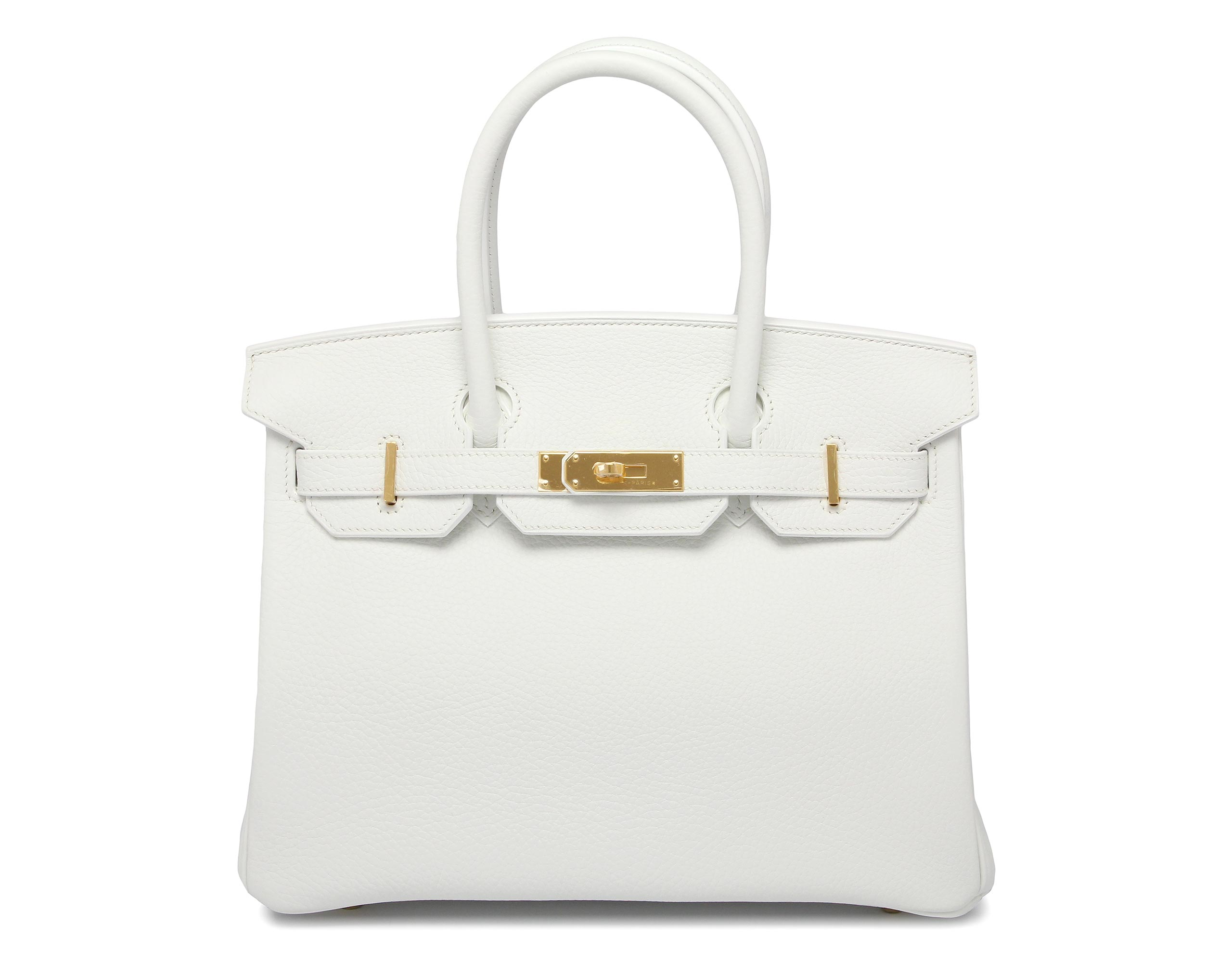 inexpensive hermes purse - Hermes Birkin 30cm White Clemence with Gold | Bags of Luxury