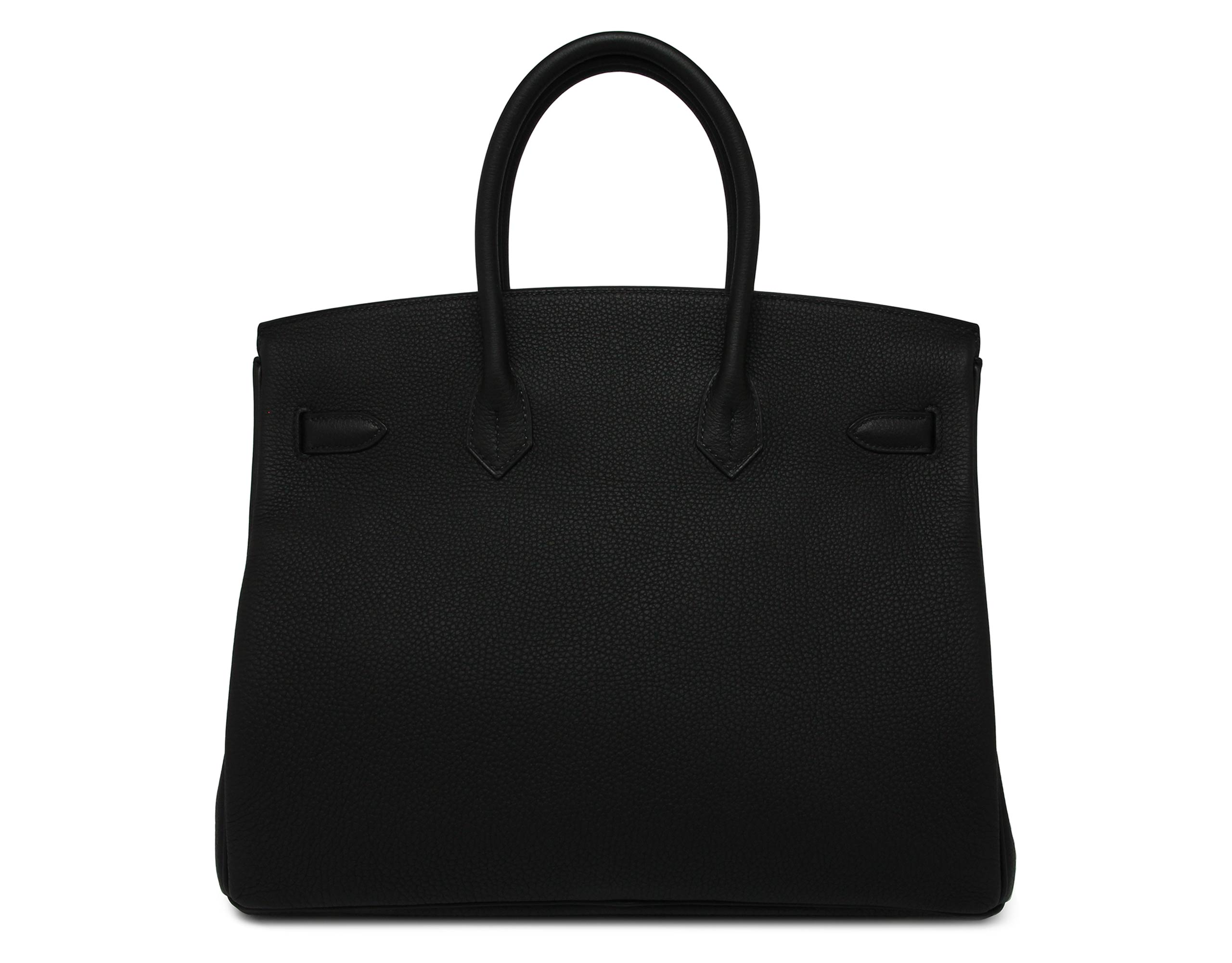hermes 35cm black togo birkin bag with gold hardware