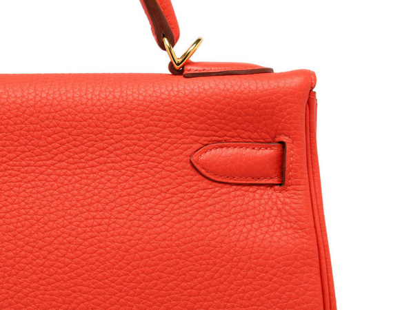32cm Hermes Kelly Capucine Togo Example In Leather