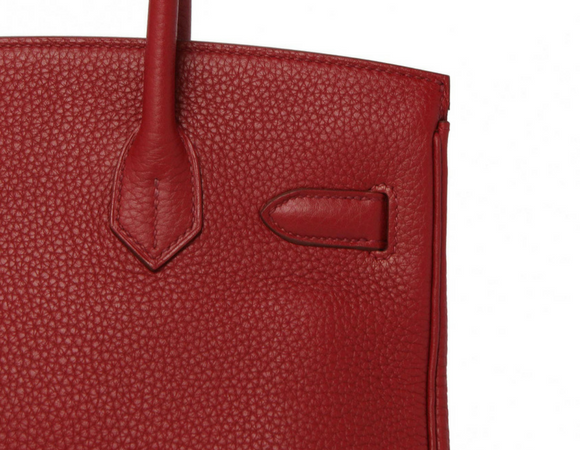 BIRKIN ROUGE GARRANCE 30CM clemence leather example