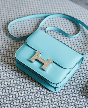 Hermes Handbag Size Guide: Blue Constance Mini