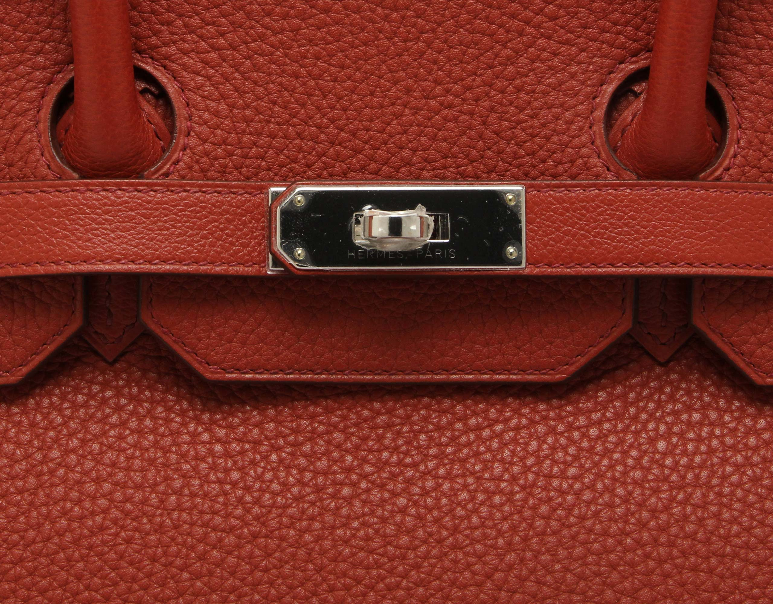 Hermes Birkin 35cm Brick Togo & Swift with Palladium