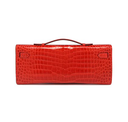 Kelly Cut Orange Poppy Shiny Croc with Palladium