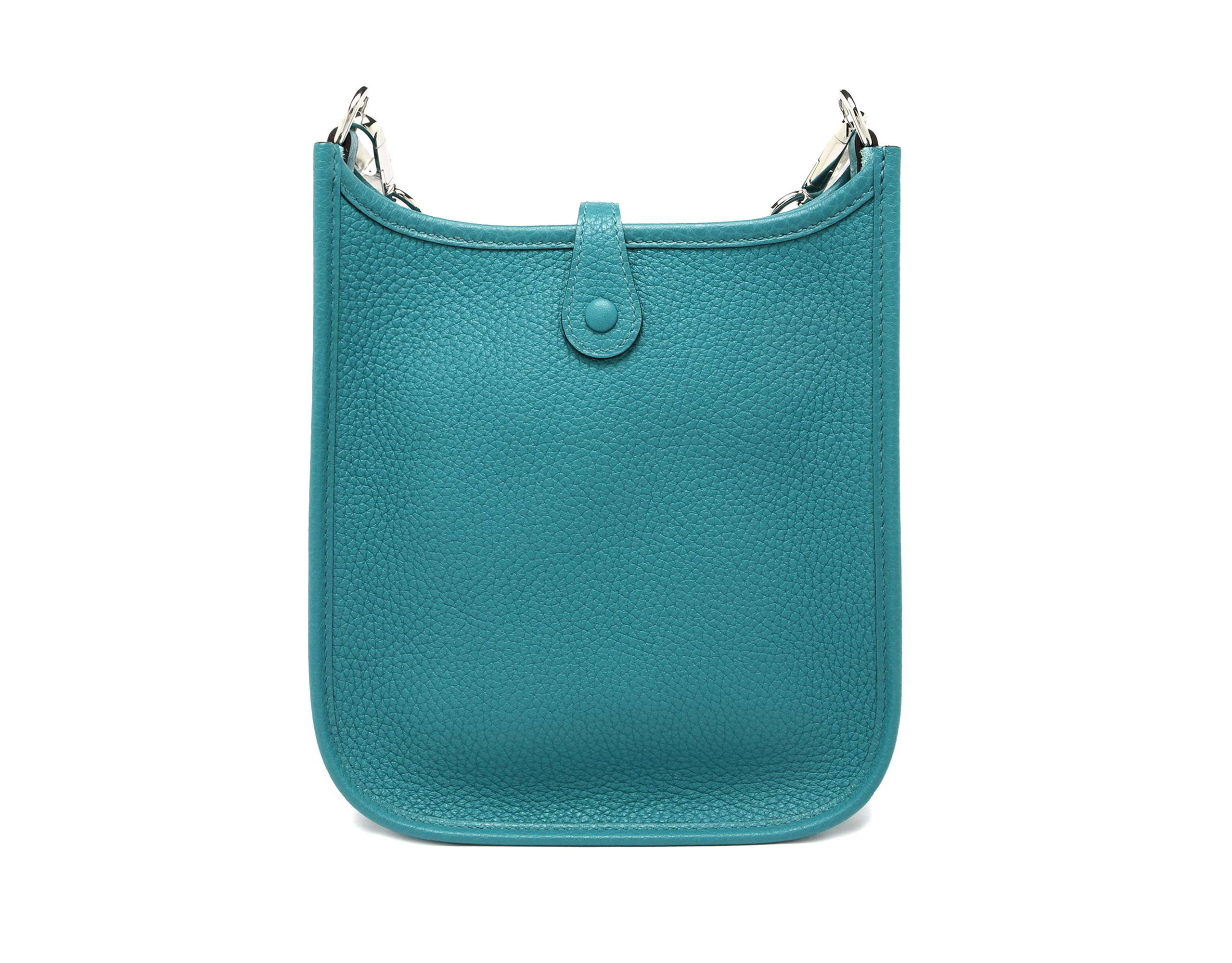 Mini Evelyn Blue Paon Clemence with Palladium & Canvas Strap