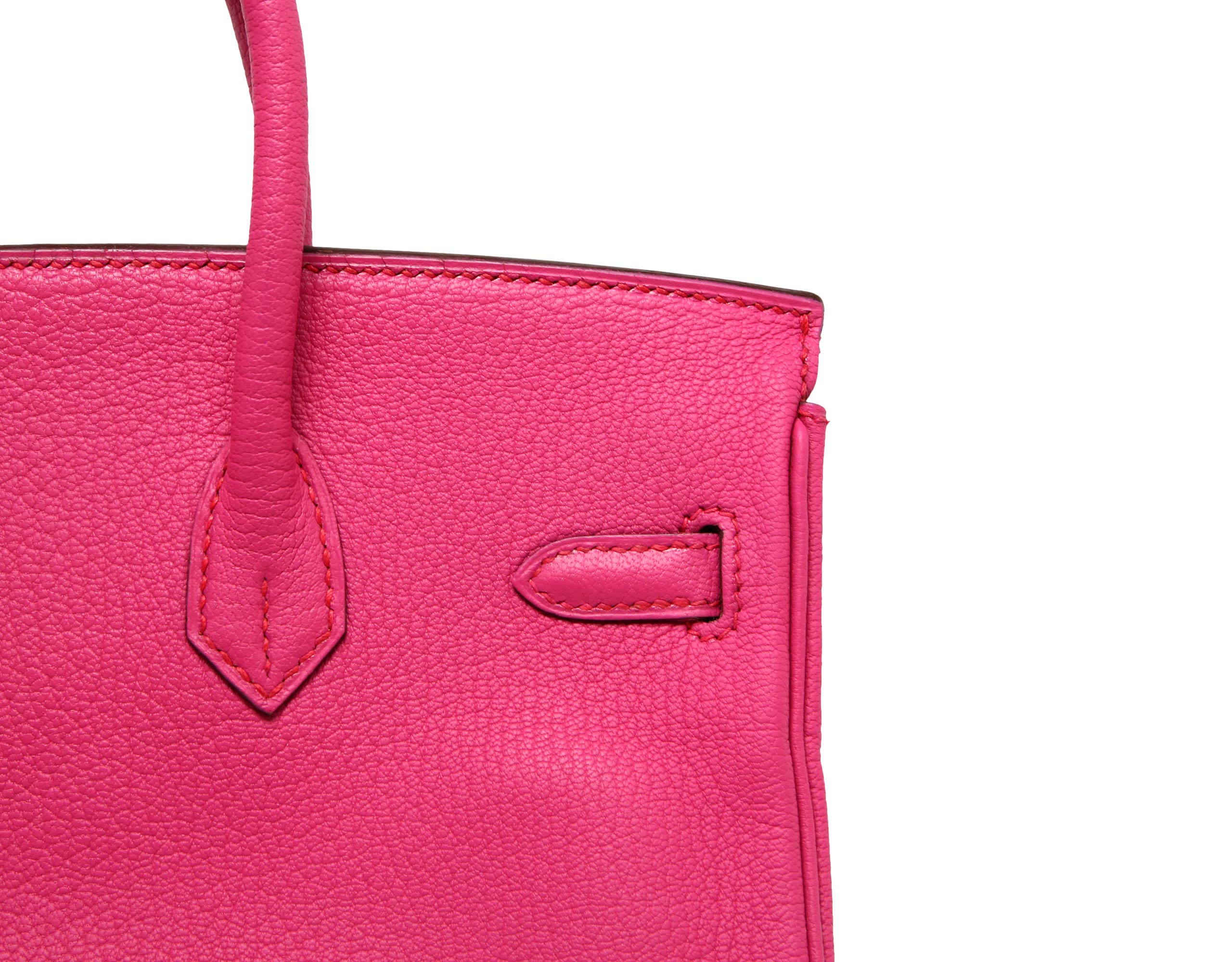 25cm Birkin Fuchsia Chevre with Palladium. Stamp: L 2008.