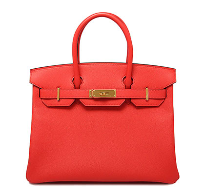 30cm Birkin Rose Jaipur Epsom with Gold. Stamp X 2016.